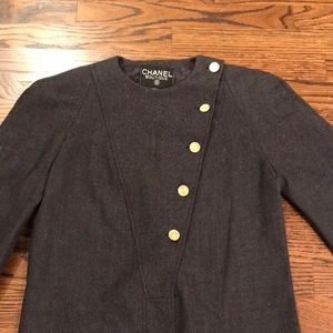 CHANEL Dress, Vintage, Gold Buttons with Logo